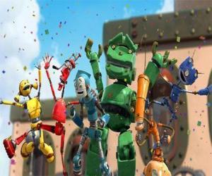Układanka Radek znajomych w Robot City - diody Rusties przez Gwoździu