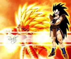 Układanka Raditz, Saiyan, Son Goku jego starszy brat, któremu udało się przetrwać zniszczenia planety Vegeta