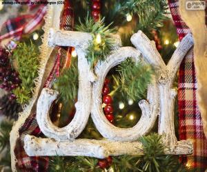 """Układanka Radość na Boże Narodzenie """"JOY"""""""