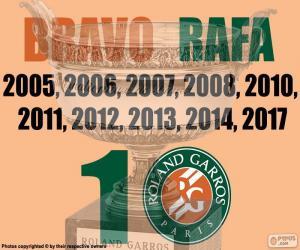 Układanka Rafa Nadal, 10 Roland Garros