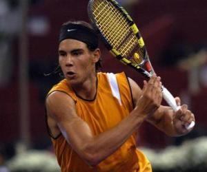 Układanka Rafa Nadal gotowy do zamachu