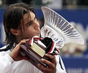Układanka Rafa Nadal whit trofeum
