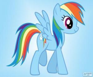 Układanka Rainbow Dash, pegaz kucyk z tęczy ogona