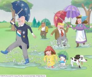 Układanka Rainy day w Królestwie Małej księżniczki