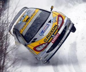 Układanka Rajdy samochodowe na śniegu