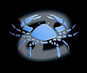 Układanka Rak. Crab. Czwarty znak zodiaku. Łacińska nazwa jestCancer
