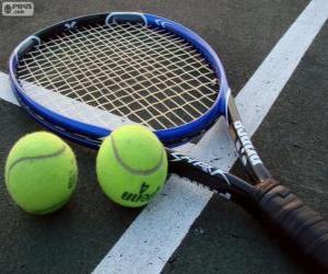Układanka Rakiet i piłek tenisowych