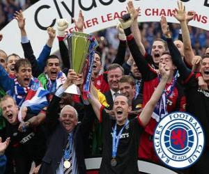 Układanka Rangers FC, Glasgow Rangers, mistrzem Scottish Football League 2010-2011