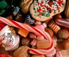 Różne cukierki i słodycze - cukierki, cukierki laski