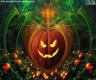 Typowy Halloween dynia