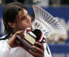 Rafa Nadal whit trofeum