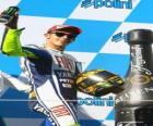 Valentino Rossi w podium