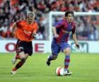 Football player (Bojan Krkic FCB) prowadzenie piłki