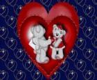 Niedźwiedzie w miłości z dwóch serc