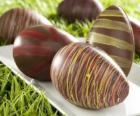 Czekoladowe jaja wielkanocne