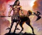 Centaur zbrojnych - Będąc z tułowia i głowy człowieka i ciała konia