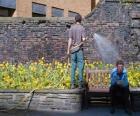 Ogrodnik pielęgnacji roślin, pojenia