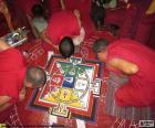 Mnisi, dokonując mandali