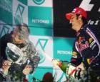 Mark Webber w podium