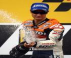 Dani Pedrosa na podium