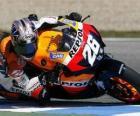 Dani Pedrosa pilotowanie jej moto GP