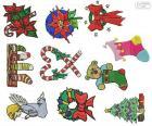 Boże Narodzenie ozdoby rysunki