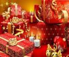 Prezenty na Boże Narodzenie z świecach w Wigilię