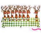 Grupa reniferów Boże Narodzenie czeka na żywność