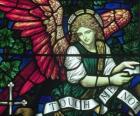 Witraże z aniołem