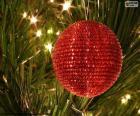 Błyszcząca Kula Boże Narodzenie