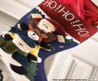 Skarpety z ozdoby świąteczne i prezenty
