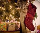 Boże Narodzenie skarpet zawieszonych