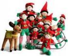 Rodziny Elfs z jego reniferów