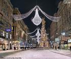 Ulica urządzone na Boże Narodzenie