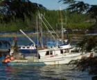 Małe rybaków łódź