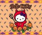Hello Kitty ubrany na Halloween