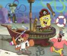 SpongeBob i kilku jego znajomych gry na piratów jest