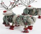Lalki Śliczny renifery świąteczne