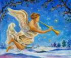 Anioł gra trąbka