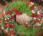 Wieniec Boże Narodzenie z elementów roślinnych