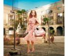 Aktorka Barbie kręcenia reklam