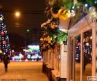 Ulica świąteczne zdobione