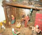 Główne Szopka ze Świętej Rodziny w stodole