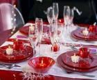 Stół przygotowana na Boże Narodzenie