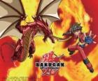Dan Kuso i jego opiekuna Bakugan Pyrus Drago