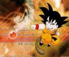 Son Goku jest Saiyan dziecko, które wzrosło w górach nauki sztuk walki z dziadkiem i Twist: ogonem.
