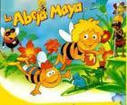 Pszczółka Maja i jej przyjaciel Willi pod spojrzeniem Flip i inne znaki
