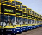 Autobusy z Dublina w parking