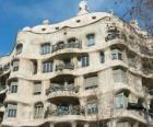 Dzieła Antoniego Gaudiego. La Pedrera i Casa Mila przez Gaudiego, Barcelona, Hiszpania.