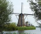 Wiatraki w Kinderdijk, Holandia